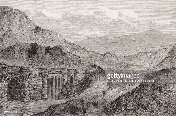Viaduct, Railway from Betws-y-Coed to Festiniog, Wales, United Kingdom, illustration from the magazine The Graphic, volume XX, no 508, August 23,...
