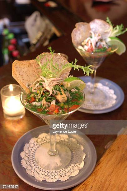 Viagra Ceviche which contains mussels shrimp and clams is served at Sabor restaurant February 19 2002 in New York City The pharmaceutical company...