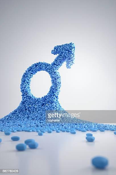 Viagra pills shaping men symbol
