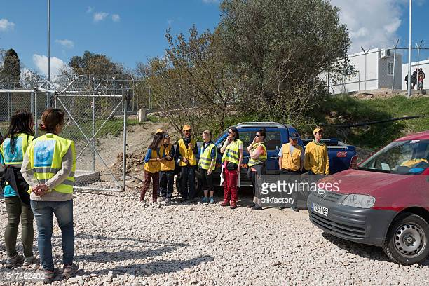 Vial refugee camp gate is opened for volunteers