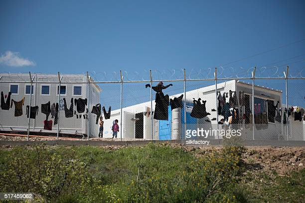 Vial refugee camp or hot-spot migrants detention center