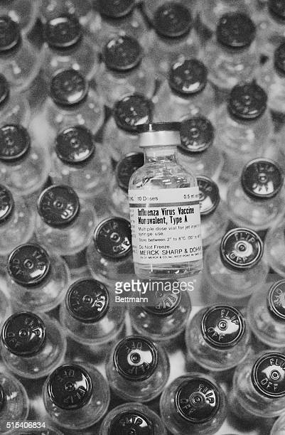 Vials containing 10 doses of Swine flu vaccine are shown here 09/29 prior to being shipped out While several immunization clinics began operating...