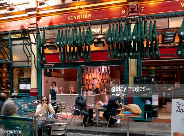 viandas at leadenhall market, city of london - leadenhall market stock photos and pictures