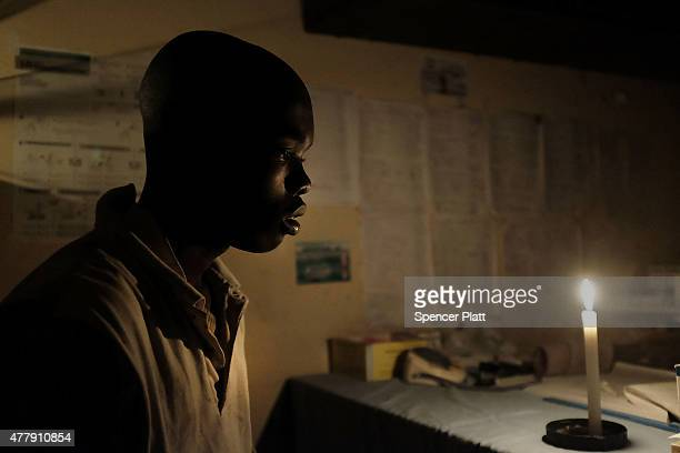 Vianney Iribuka a homeless teen living on the streets of the capital looks on before a doctor at a health clinic treats his head wound from a rock on...