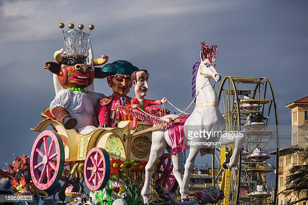 Viareggio Carnival, a typical allegoric wagon
