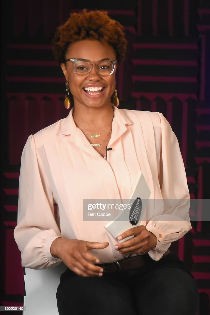 Vibe Editor and Billboard News Correspondent Shenequa Golding speaks during the 2017 American Music Awards nominations announcement at Billboard on October 12, 2017 in New York City.