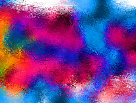 Vibrant abstract fluid acrylic painting - gettyimageskorea