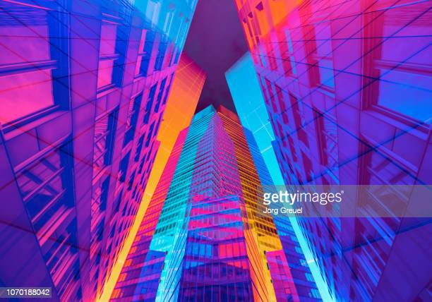 vibrant architecture - trippy stock pictures, royalty-free photos & images