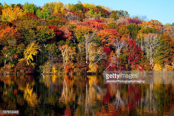 Vibrant Autumn Colors reflecting off the water