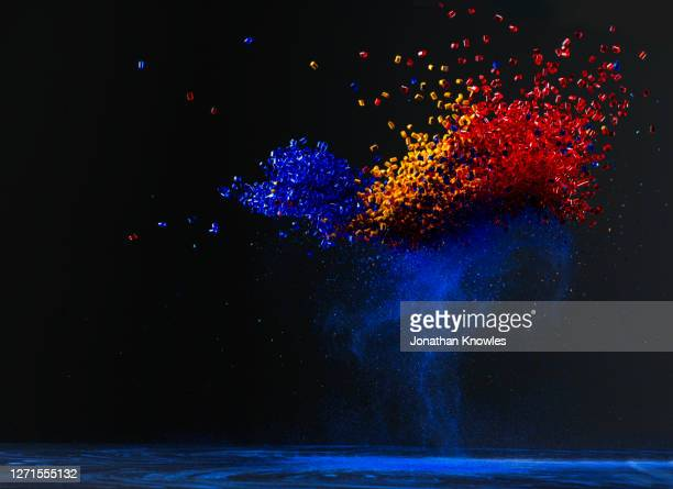 vibrant bead explosion - bead stock pictures, royalty-free photos & images