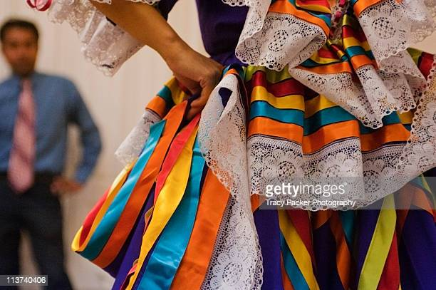 vibrant colours & textures of mexican dance. - traditional ceremony stock pictures, royalty-free photos & images