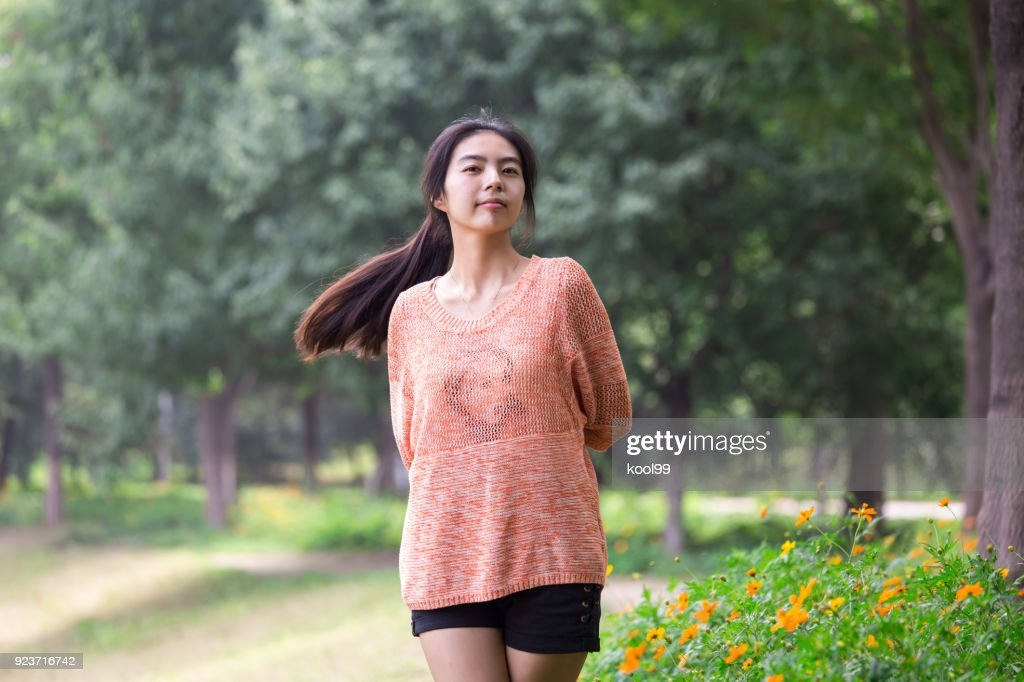 Vibrant cute girl : Stock Photo