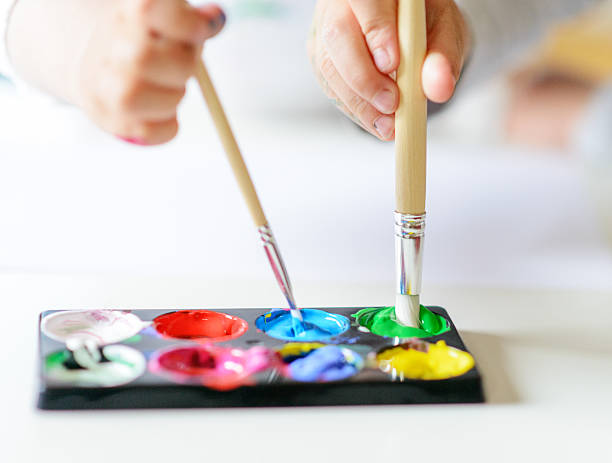 Vibrant Gouache Color Set In Double Use Wall Art
