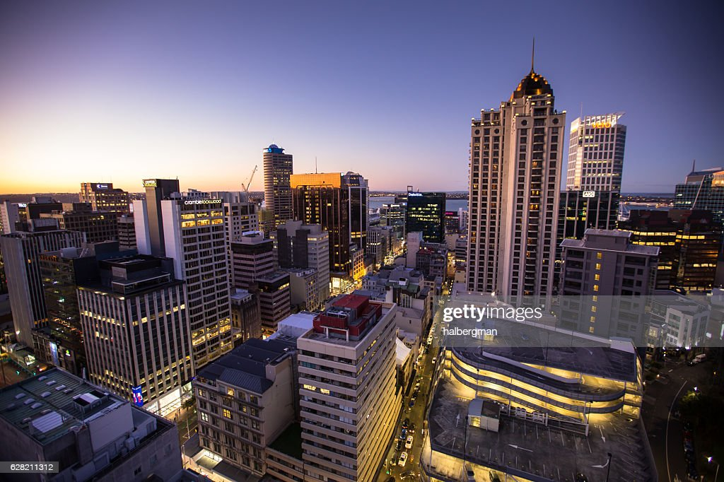 Vibrant New Zealand City Lights : Stock Photo