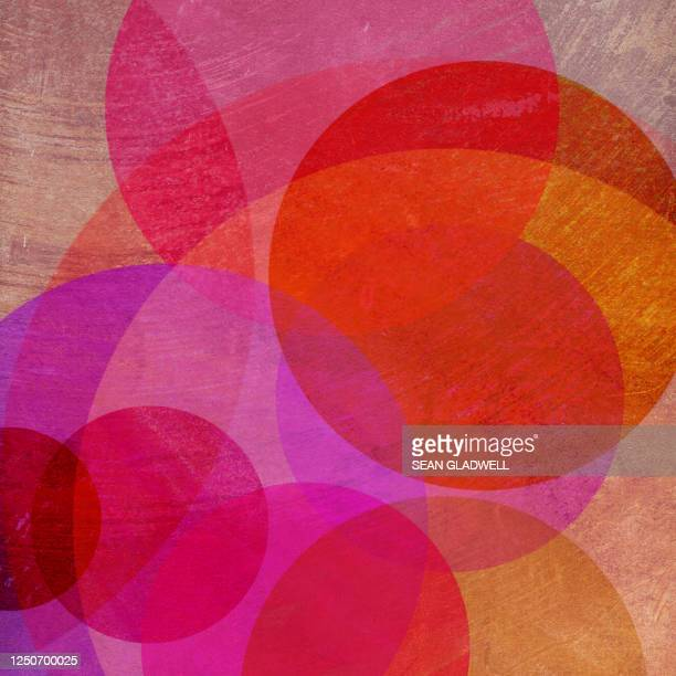vibrant painted circles - graphic print stock pictures, royalty-free photos & images