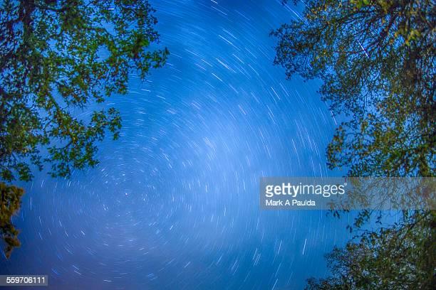Vibrant spiral sky