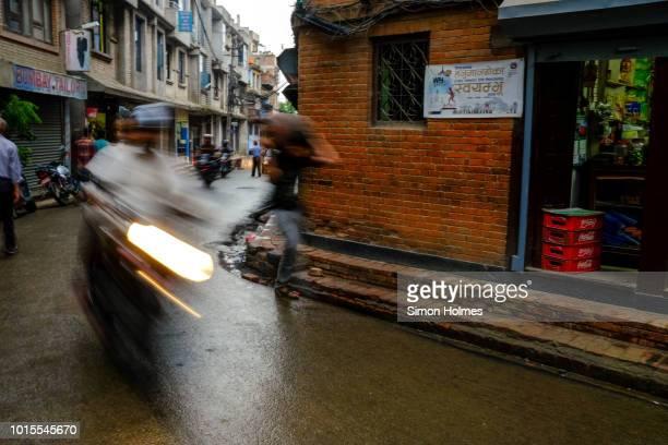 vibrant streets of kathmandu - pokhara stock pictures, royalty-free photos & images