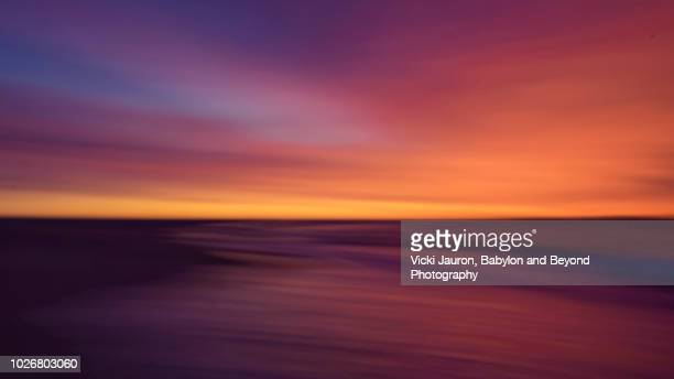 Vibrant Sunrise Layers in Abstract at Jones Beach, Long Island