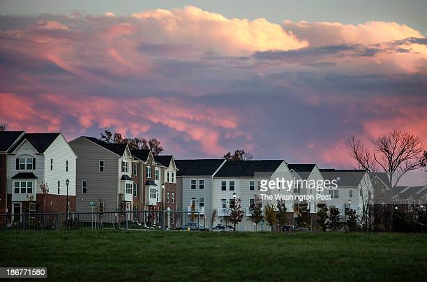 Vibrant sunset over a housing development November 1 in Gainseville, VA. In the New Virginia, in parts of Prince William County, people come from...
