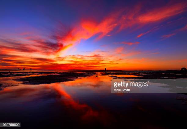 vibrant sunset - screen saver stock photos and pictures