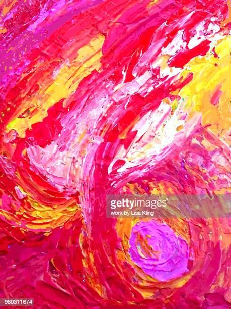 vibrant textured acrylic palette knife painting