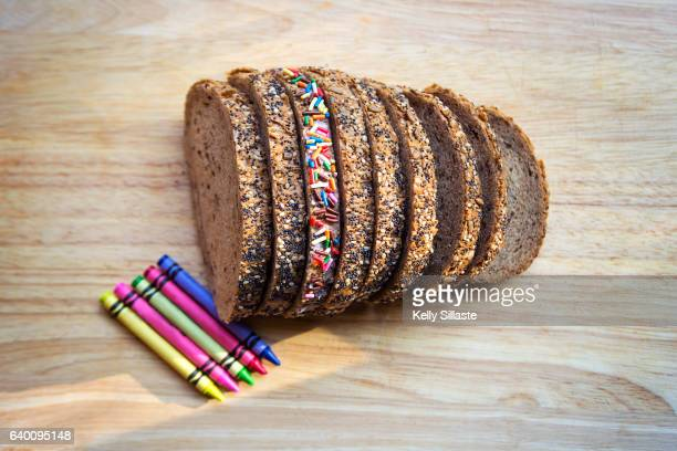Vibrantly Cheerful and Colorful Bread Slice