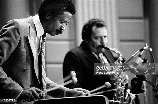 Vibraphone player Bobby Hutcherson and Jackie McLean perform live on stage at Concertgebouw in Amsterdam, Netherlands on July 19 1983