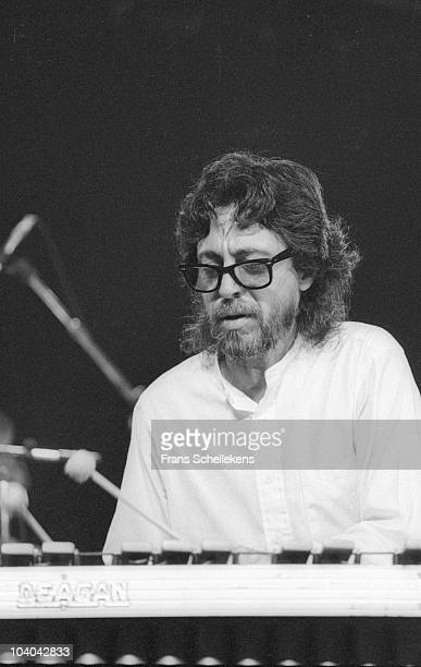 Vibraphone player Mike Manieri performs on stage at The North Sea Jazz Festival on July 14 1985 in Amsterdam, Netherlands.