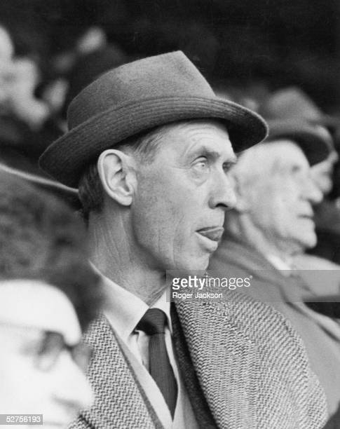 Vic Buckingham watches his first match as manager for Fulham FC at Craven Cottage 23rd January 1965 The team are playing against Nottingham Forest