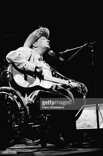 Vic Chestnut, guitar-vocal, performs at the Paradiso on 12th March 1994 in Amsterdam, Netherlands.