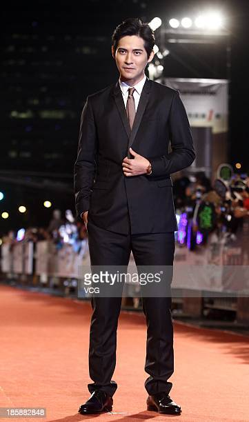 Vic Chou attends the red carpet of the 48th Golden Bell Award on October 25 2013 in Taipei Taiwan of China
