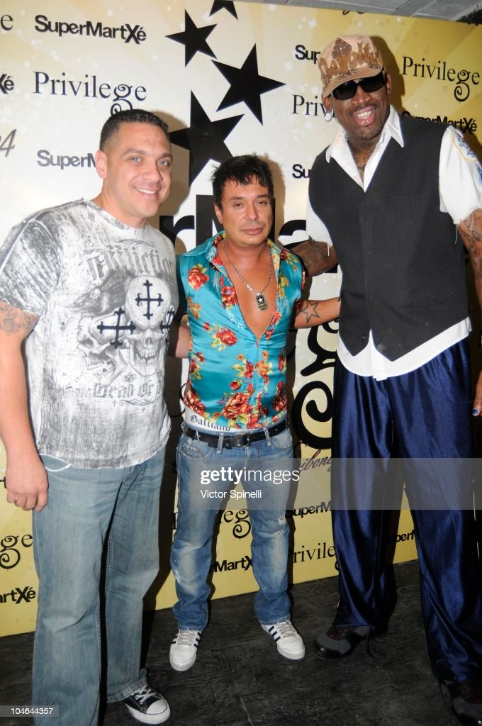 Vic Latino Nano And Dennis Rodman Attend Supermatxe Privilege