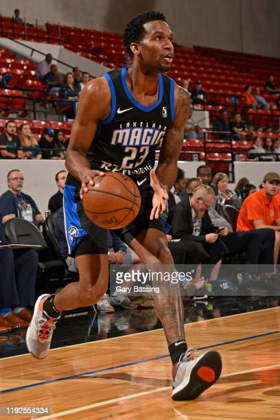 Vic Law of the Lakeland Magic handles the ball against the Canton Charge on January 2 2020 at the RP Funding Center in Lakeland Florida NOTE TO USER...