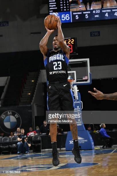 Vic Law of the Lakeland Magic shoots against the Fort Wayne Mad Ants during the game on December 10, 2019 at RP Funding Center in Lakeland, Florida....