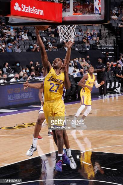 Vic Law of the Los Angeles Lakers shoots the ball against the Sacramento Kings during the 2021 California Classic Summer League on August 4, 2021 at...