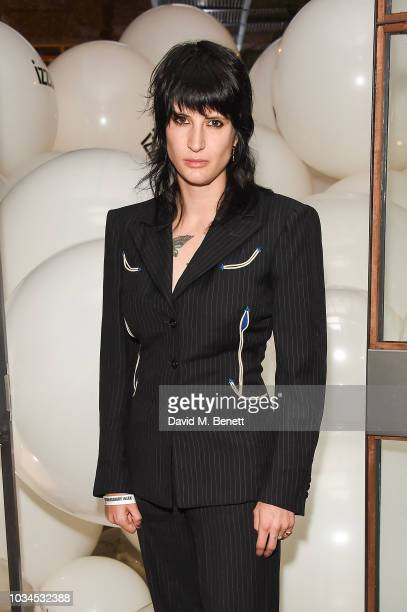 Vic Lentaigne attends the Izzue x Ponystep London Fashion Week party at Mare Street Market on September 16 2018 in London England