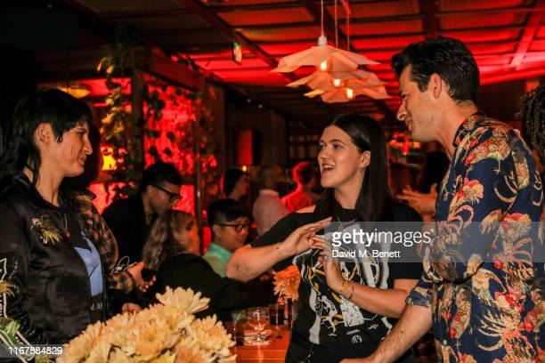 Vic Lentaigne Romy Madley Croft and Mark Ronson attend Peggy Gou and Browns private dinner at Double Standard The Standard to celebrate Kirin FW19 on...