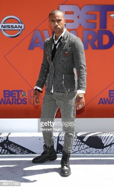 Vic Mensa attends the 2018 BET Awards at Microsoft Theater on June 24 2018 in Los Angeles California