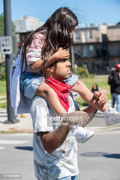 Vic Mensa attends the Year Of The Youth Peace Walk Give Back Event at Overton Elementary School on September 19 2020 in Chicago Illinois
