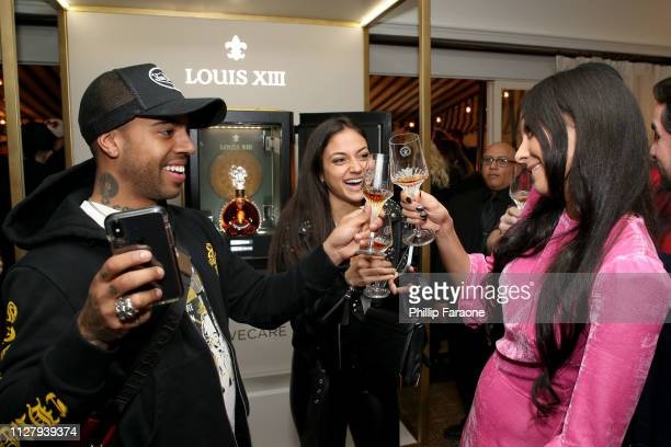 Vic Mensa Inanna Sarkis and Emily Mace attend LOUIS XIII Cognac Celebrates '100 Years The Song You'll Only Hear #IfWeCare' on February 06 2019 in Los...