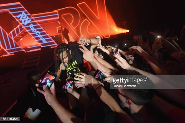 Vic Mensa performs at Spotify's RapCaviar Live in Chicago at Aragon Ballroom on October 20 2017 in Chicago Illinois