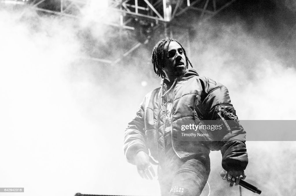 Vic Mensa performs during Air + Style Los Angeles 2017 at Exposition Park on February 18, 2017 in Los Angeles, California.