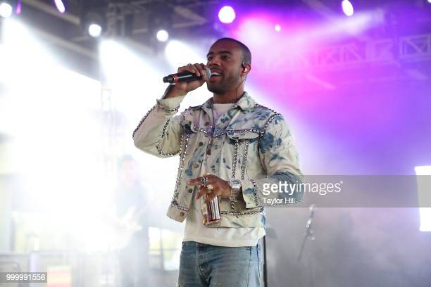 Vic Mensa performs during the 2018 Forecastle Music Festival at Louisville Waterfront Park on July 15, 2018 in Louisville, Kentucky.
