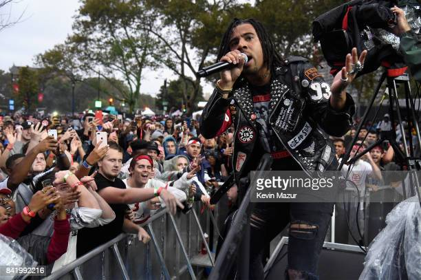 Vic Mensa performs onstage during the 2017 Budweiser Made in America festival Day 1 at Benjamin Franklin Parkway on September 2 2017 in Philadelphia...