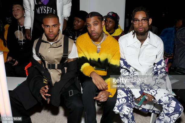 Vic Mensa Reese LaFlare and PnB Rock attend Palm Angels The Shows during New York Fashion Week on February 09 2020 in New York City