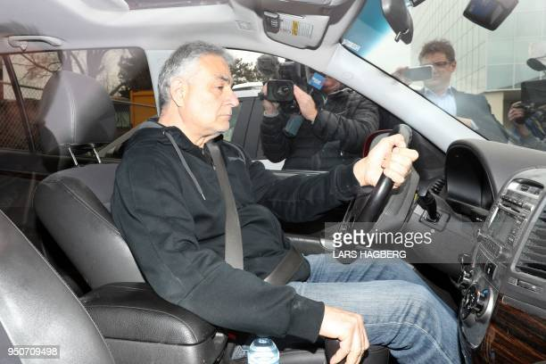 Vic Minassian the father of suspect Alek Minassian leaves court after his son Alek's court appearance in Toronto Ontario on April 24 2018 A van...
