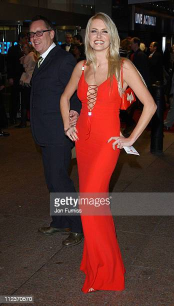Vic Reaves and Nancy Sorell during Love Actually London Premiere Arrivals at The Odeon Leicester Square in London United Kingdom
