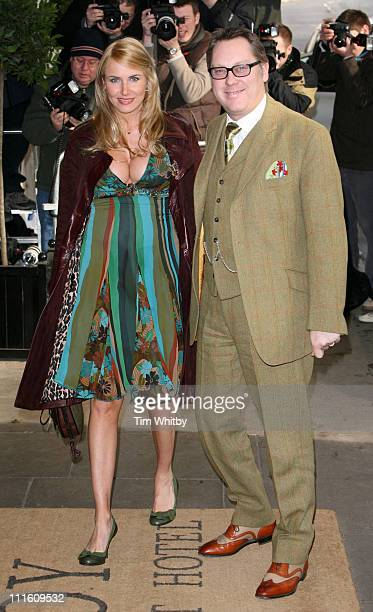 Vic Reeves and Nancy Sorell during The South Bank Show Awards 2006 Arrivals at The Savoy in London Great Britain
