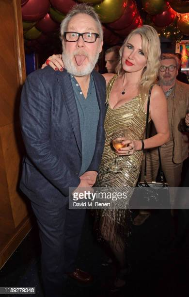 Vic Reeves and Nancy Sorrell attend Tramp's Christmas Party in celebration of their 50th Anniversary on December 17 2019 in London England