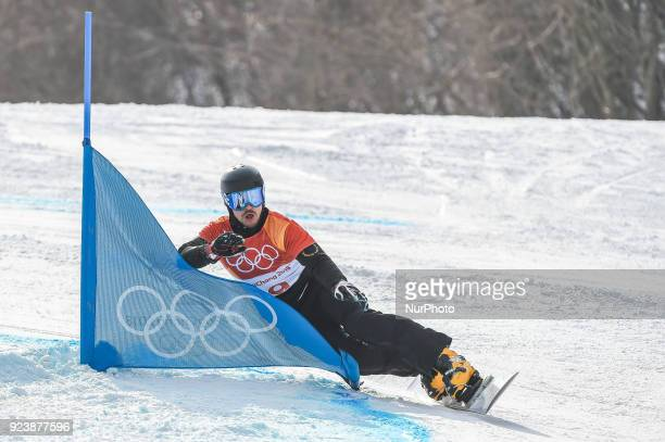 Vic Wild from Russia at parallel giant slalom at winter olympics Gangneung South Korea on February 24 2018